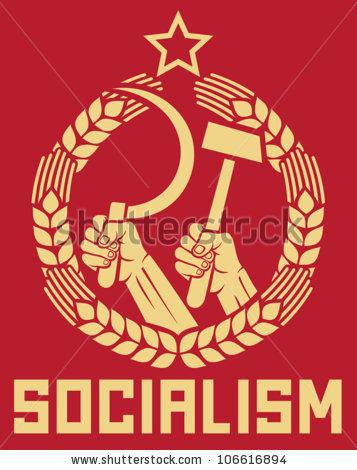 Stock Vector Socialism Poster Soviet Poster Socialism Poster Ussr