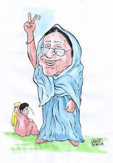 Hasina-Khaleda cartoon