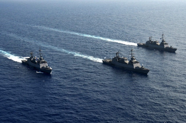 Three_Sa'ar_5_Class_Missile_Corvettes_Going_For_a_Cruise