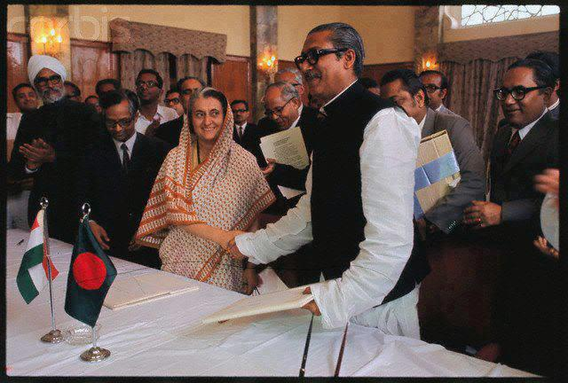 Bangabandhu Sheikh Mujib & Indira Gandhi