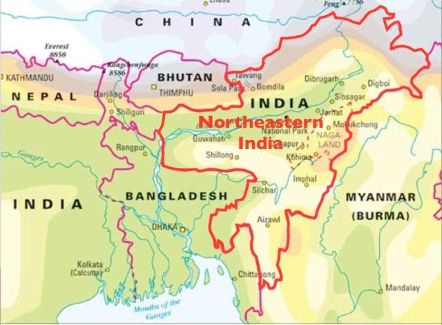 Northeast-India-Map
