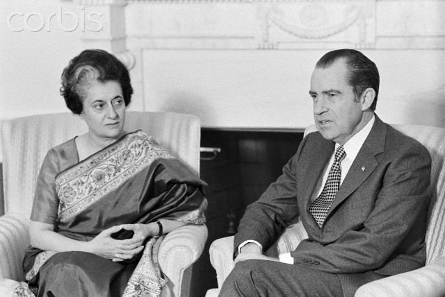 President Nixon and Prime Minister Indira Gandhi