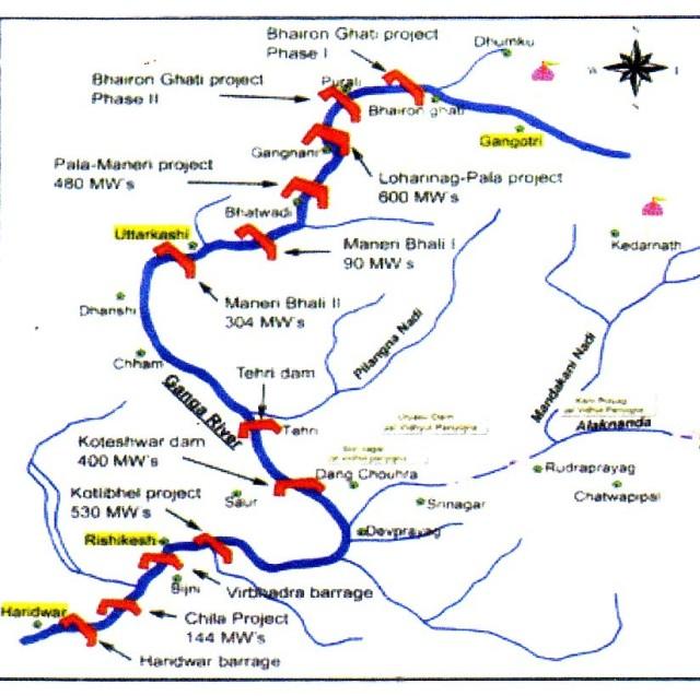 MAP OF DAMS