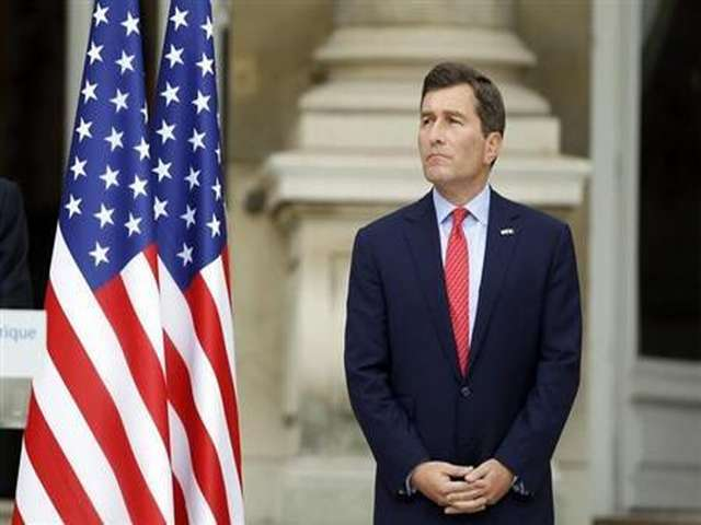 U.S. Ambassador to France Charles Rivkin attends a ceremony to pay tribute to the victims of the 9/11 attacks at the U.S. Embassy in Paris September 9, 2011.
