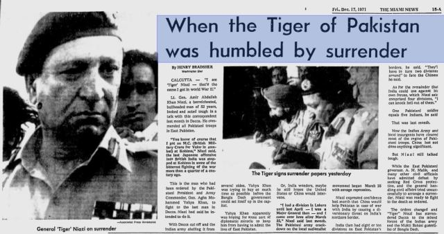 When The Tiger Of Pakistan Was Humbled By Surrender_The Miami News_Dec 17, 1971b