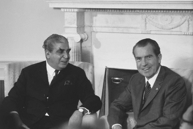 Richard Nixon Posing with Agha Yahya Khan