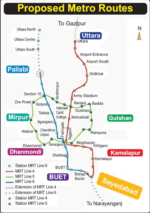 DhakaMetroMap