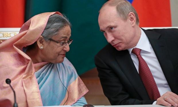 Vladimir Putin, Sheikh Hasina