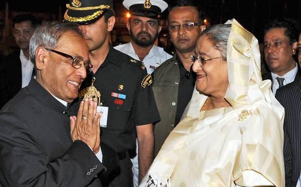 India_Presidnet_Pranab_PM_Hasina_Bangla