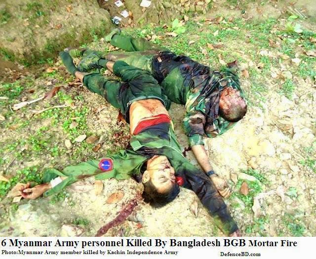 6 Myanmar Army Killed By Bangladesh