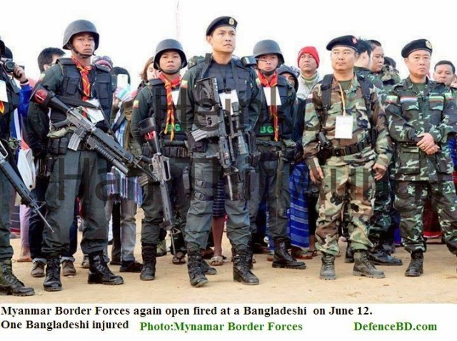 myanmar again fired on bangladesh