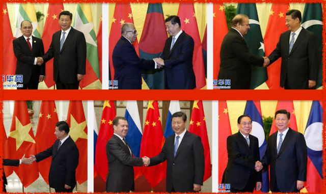 President Xi meets leaders from across Asia 2