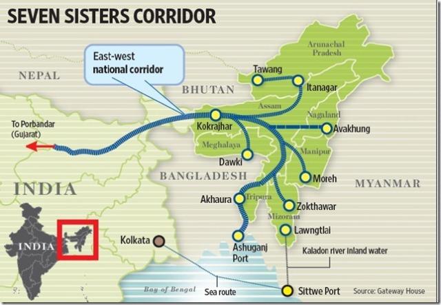 Indo-Bangla-transit-route