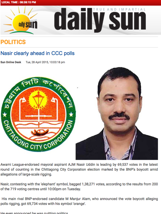 Nasir clearly ahead in CCC polls