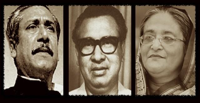 Bangabandhu, Tajuddin, and Hasina