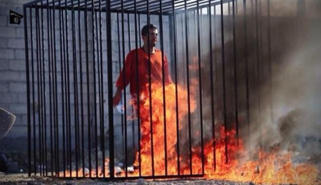 "See Video: ISIS burns alive Jordanian pilot ""al-Kasasbeh"""