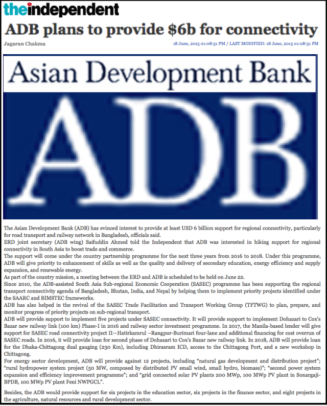 ADB plans to provide $6b for connectivity