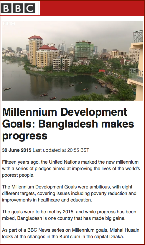 Bangladesh makes progress