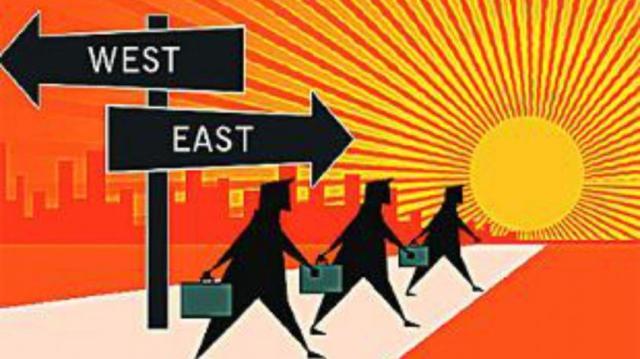 look east