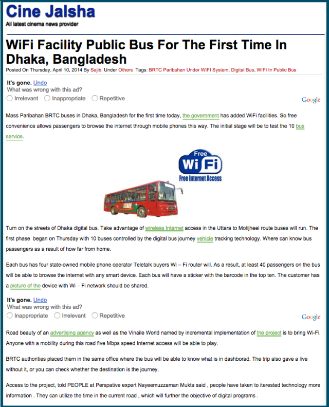 WiFi Facility Public Bus For The First Time In Dhaka  Bangladesh   Cine Jalsha