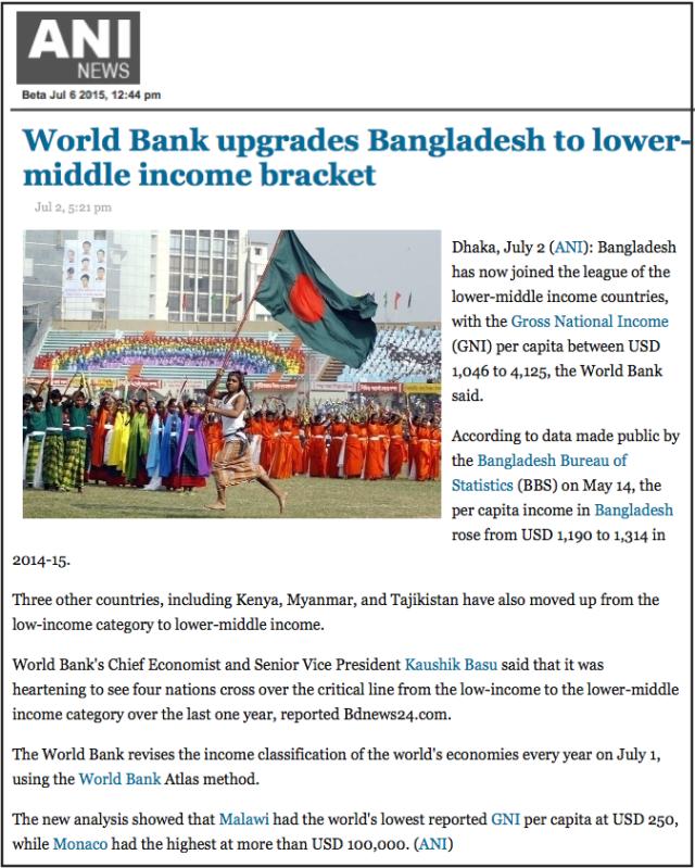 World Bank upgrades Bangladesh to lower-middle income bracket