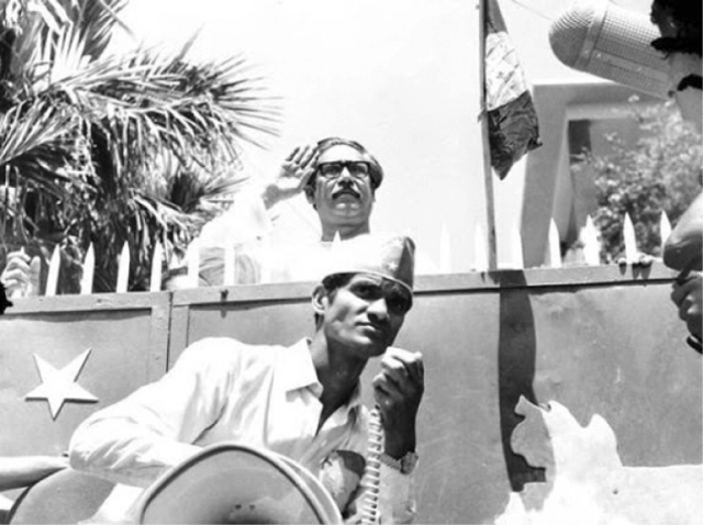BANGABANDHU AT DHANMONDI HOUSE 23-march-1971