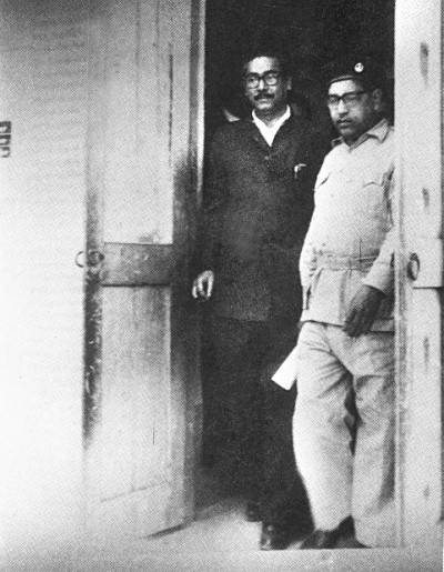 Bangabandhu on his way to the Special Tribunal set up to try the Agartala Conspiracy Case in 1969