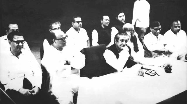 BANGABANDHU SHEIKH MUJIB WITH THE NATIONAL LEADERS