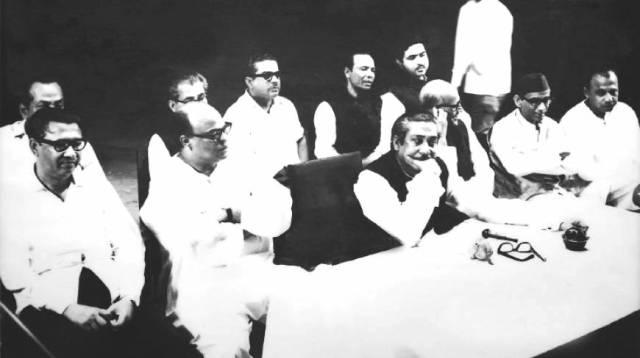 BANGABANDHU SHEIKH MUJIB WITH THE NATIONAL LEADERS
