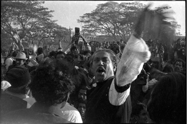 Bangabandhu Sheikh Mujibur Rahman at a rally of the 21st February (Language Martyrs Day)