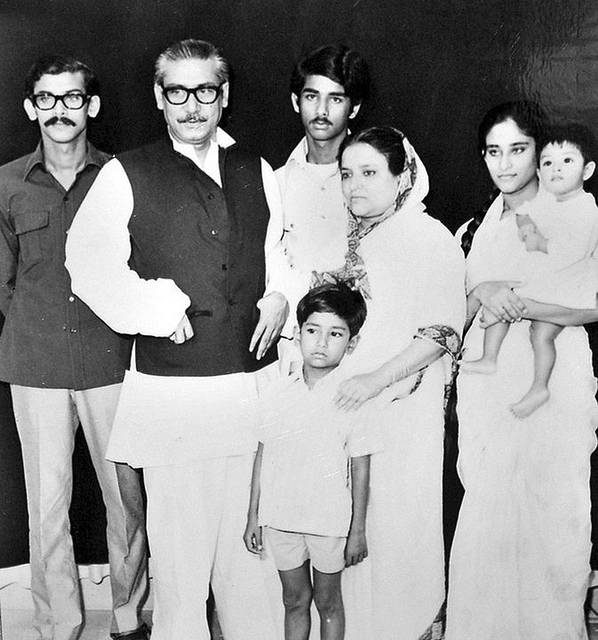 Bangabandhu with his family