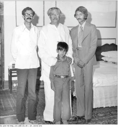 BANGABANDHU WITH HIS SONS