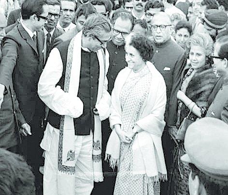 Sheikh Mujibur Rahman and Indira Gandhi