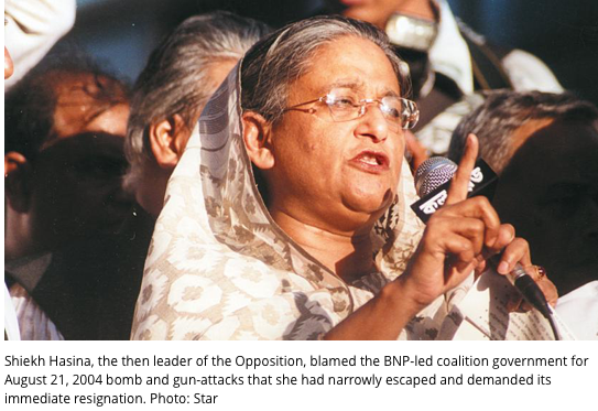 Hasina blames govt