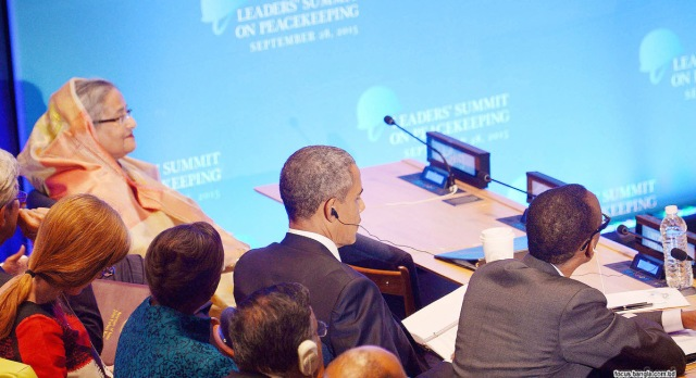 HASINA, OBAMA CO-CHAIR PEACEKEEPING SUMMIT AT UN  1