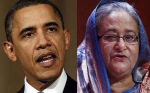 Obama+Hasina