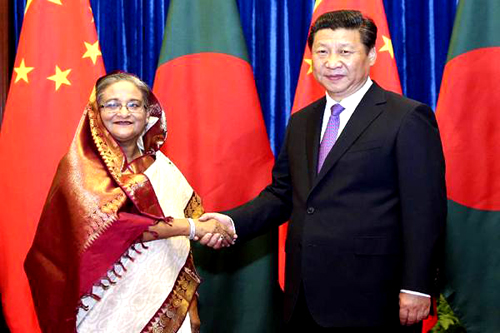 SHEIKH HASINA AND XI JINPING