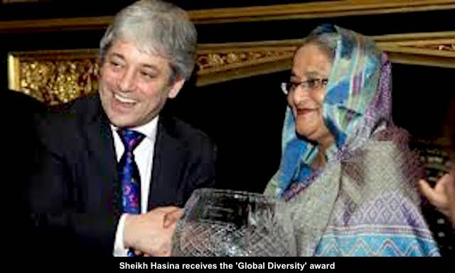 Sheikh Hasina receives the 'Global Diversity' award