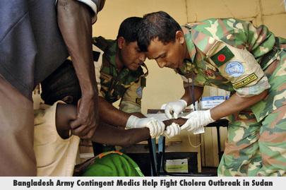 Bangladesh Army Contingent Medics Help Fight Cholera Outbreak in Sudan