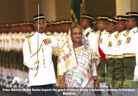bangladesh-prime-minister-sheikh-hasina-inspects-the-guard-of-honour-during-a-welcoming-ceremony-in-putrajaya