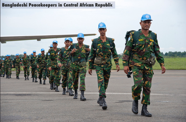 Bangladeshi Peacekeepers arriving in Central African Republic |