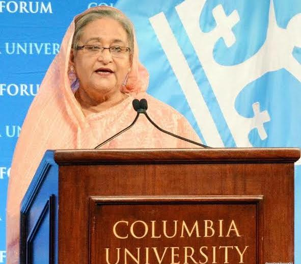 Hasina Speaks At Columbia University3