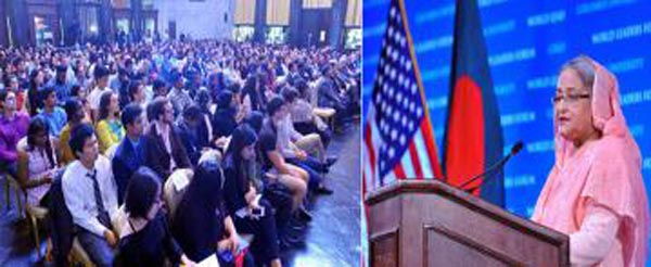 Hasina Speaks At Columbia University4