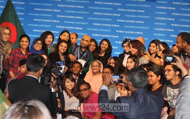 Hasina Speaks At Columbia University6
