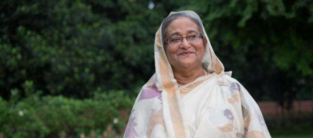 Her Excellency Sheikh Hasina, Prime Minister of Bangladesh and 2015 Champion of the Earth