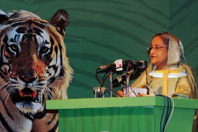 PM SHEIKH HASINA on SAVE THE tiger
