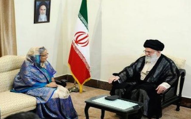 PM SHEIKH HASINA WITH KHAMENEI