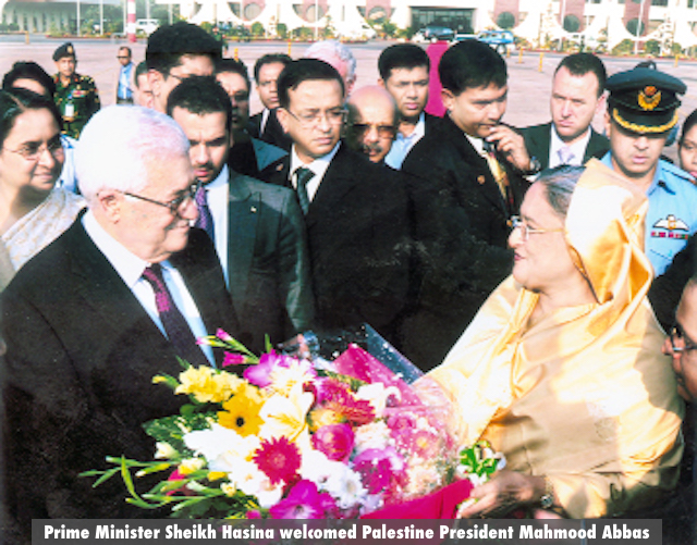 Prime Minister Sheikh Hasina welcomed Palestine President Mahmood Abbas