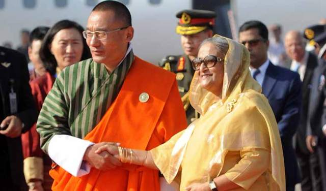 Prime Minister Sheikh Hasina WITH BHUTAN PM