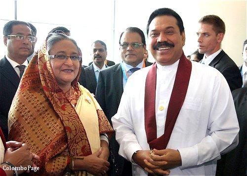 Prime Minister Sheikh Hasina with Srilankan PM